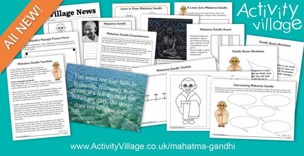 Learning about Mahatma Gandhi, our Famous Person of the week