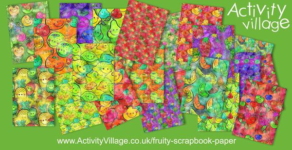 11 gorgeous new fruity scrapbook paper designs in 2 sizes!