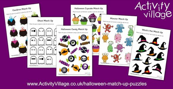 These new Halloween match up puzzles are bright and colourful and perfect for younger children!