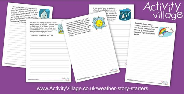 New weather story starters for creative writing