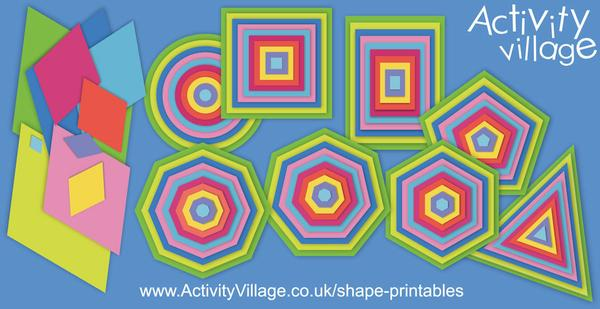 Useful shape printables for learning and crafty activities!