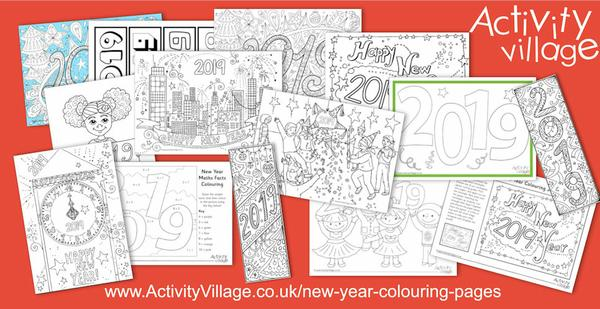 Have you seen our New Year colouring pages?