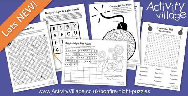 More puzzling fun for Bonfire Night. Why not print some of these off in case the fireworks display gets rained off!
