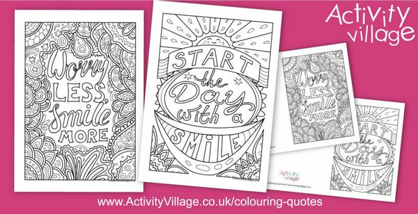 Two new colouring quotes to make you smile!