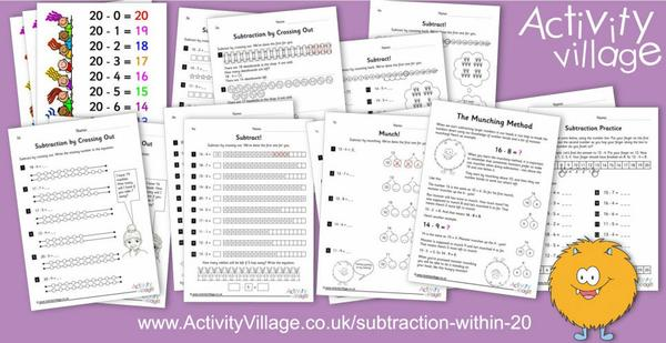 New resources for subtraction within 20
