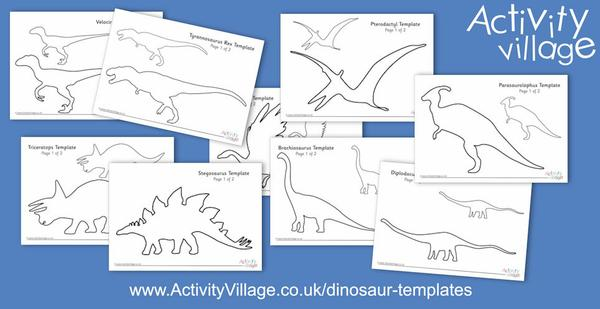 We've added new dinosaur templates for crafty projects...