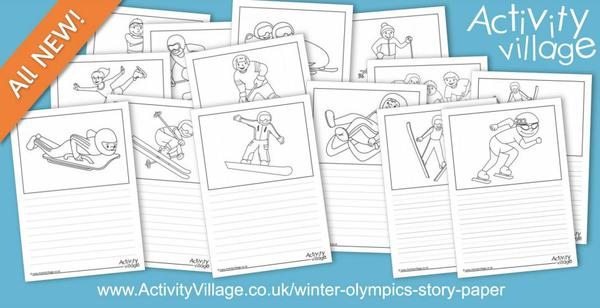 Get ready for the Winter Olympics with our fun winter sports story paper