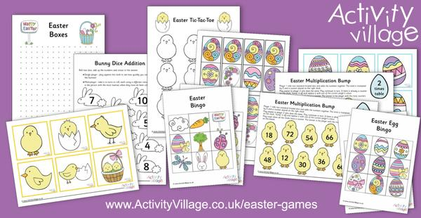 Fun new printable Easter games for classroom or family
