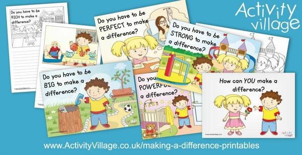 We've been expanding our new Making A Difference topic with these printables for younger kids