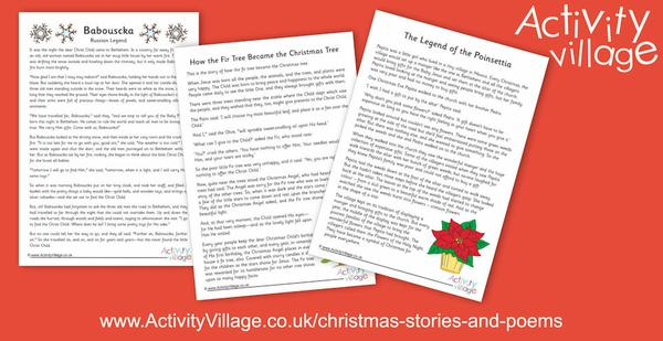 3 new Christmas stories to print and read with the kids