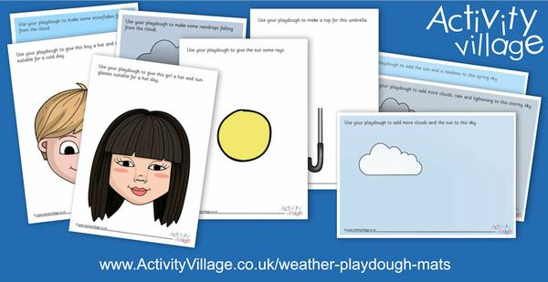 New weather-themed playdough mats