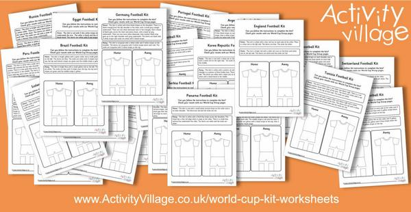Our World Cup kit worksheets - a fun way to practise following instructions!