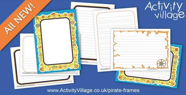 Useful frames for pirate writing and drawing projects