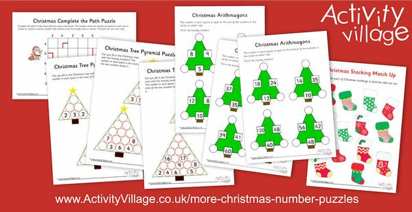 We've added more Christmas number puzzles