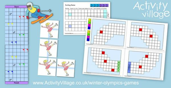 Four fabulous printable games based on Winter Olympics sports!