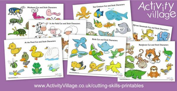 Or print some of our new cut and stick characters to use with our backdrops