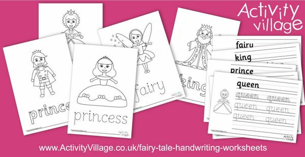 New fairy tale handwriting worksheets
