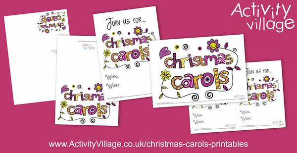 Useful new Christmas carols printables