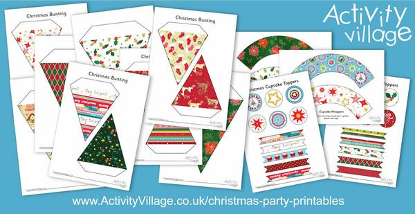 Pretty new Christmas party printables