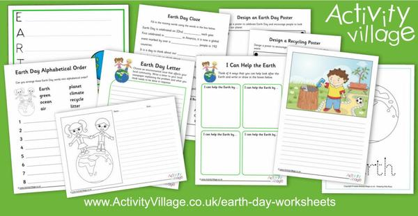 All sorts of new Earth Day worksheets!