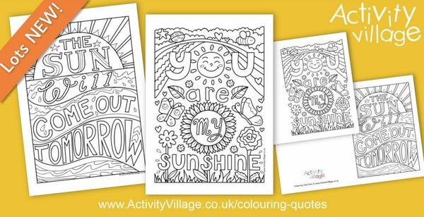 Let the sunshine in with our latest colouring quote pages
