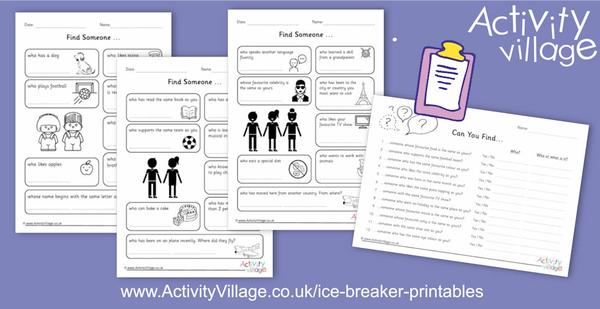 New ice breaker printables