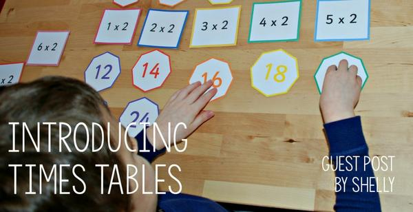 Guest post - introducting times tables