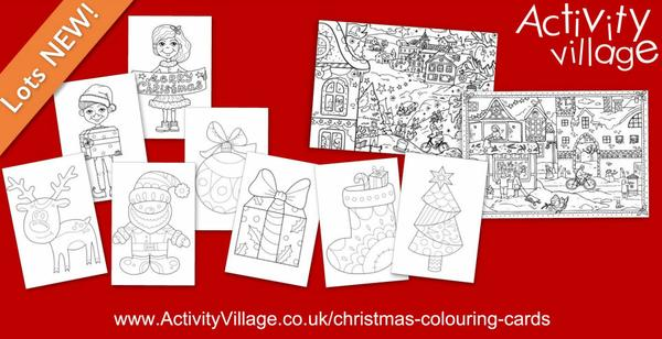 And we've added to our collection of Christmas colouring cards too