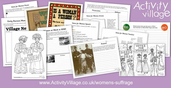 Launching a new history topic on Women's Suffrage