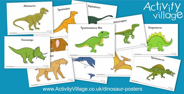 A new set of dinosaur posters