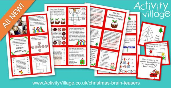 Brand new Christmas brain teasers, guaranteed to challenge!