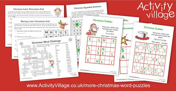... and even more Christmas word puzzles!