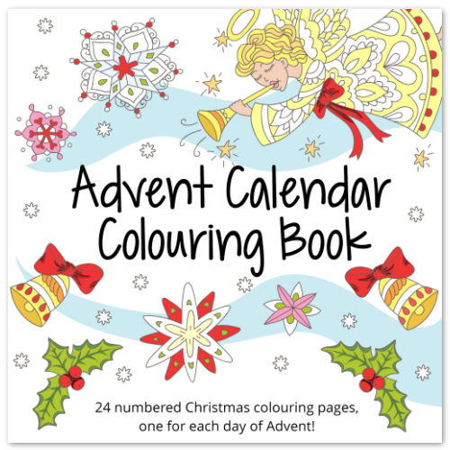 Advent Calendar Colouring Book for Adults and Older Children