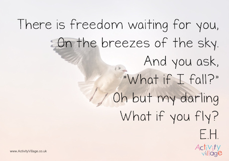 There is freedom waiting for you - poster