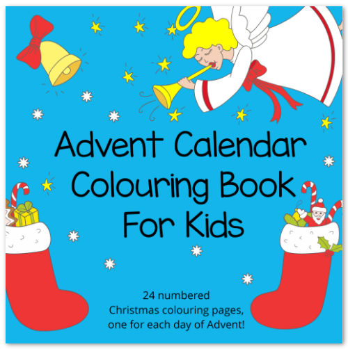 Advent Calendar Colouring Book for Kids