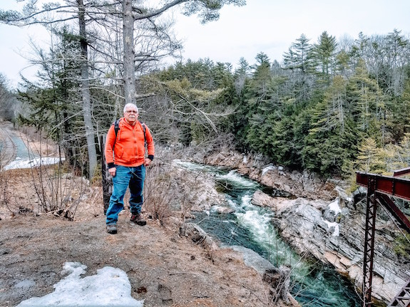 Orange Man at Livermore Falls