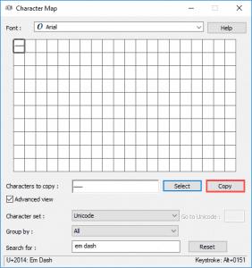 Add an Em Dash in PowerPoint for Windows