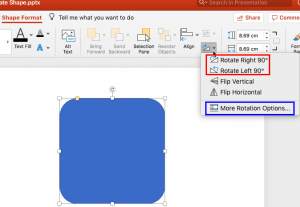 Rotate Shapes in PowerPoint 2016 for Mac