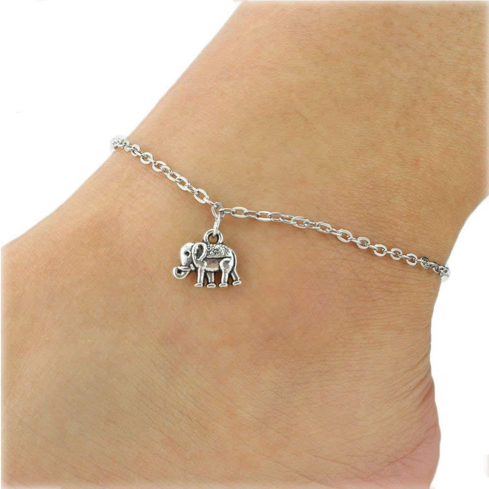 Elephant anklet on ankle