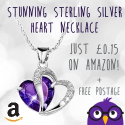 Sterling silver heart necklace for just 15p