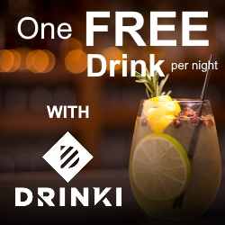 Free Drinks in London with Drinki App