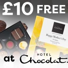 £10 free at Hotel Chocolat
