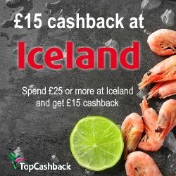 £15 cashback at Iceland