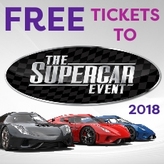 Free tickets to Supercar Event
