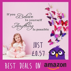 Kids bedroom wall stickers just 57p