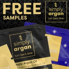 Free samples from simply argan