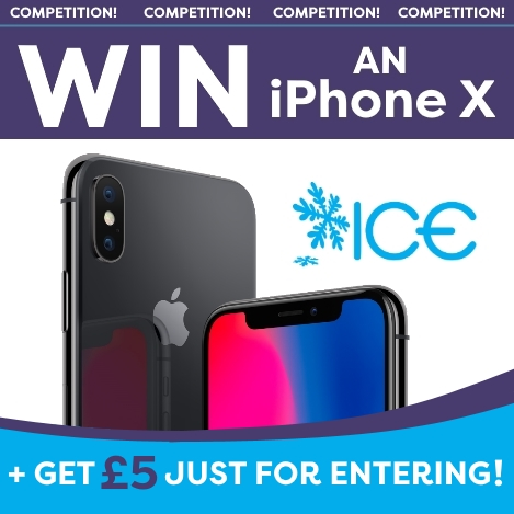 WIN an iPhone X + Get £5 For Entering