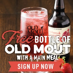 Free Cider with a main meal at Harvester