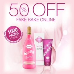 50% off Fake Bake Online + 1000 prizes to be won
