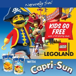Kids Go Free To LEGOLAND with Capri-Sun